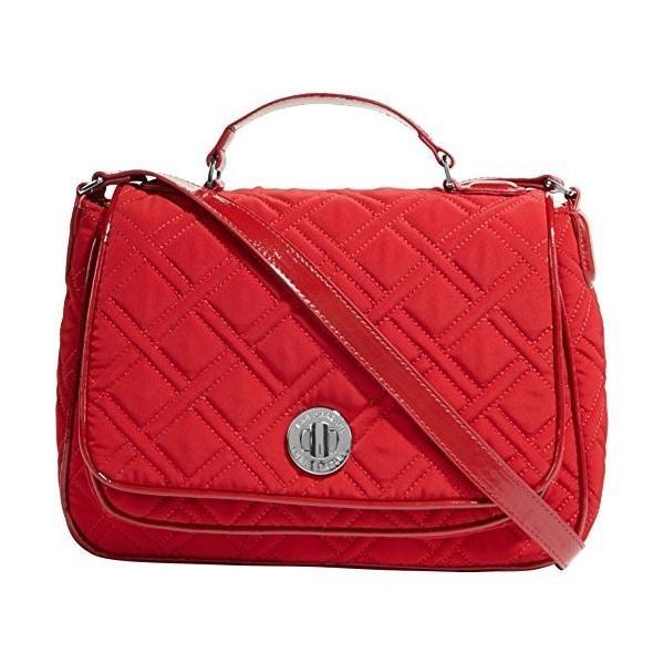 ヴェラブラッドリーVera Bradley Turnlock Crossbody Bag (Tango red)