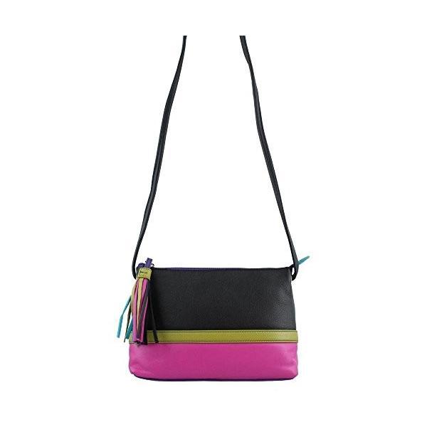 ILILeather Colorblock Cross-body Handbag (Black Brights)