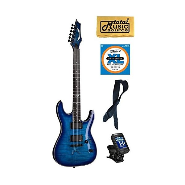 ディーンDean Custom 450 Electric Guitar, Trans Blue Flame, EMG Pickups, FREE EXTRAS|abareusagi-usa