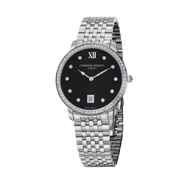 当店1年保証 フレデリックコンスタントFrederique Constant Women's FC-220B4SD36B Slim Line Stainless Steel Bracele