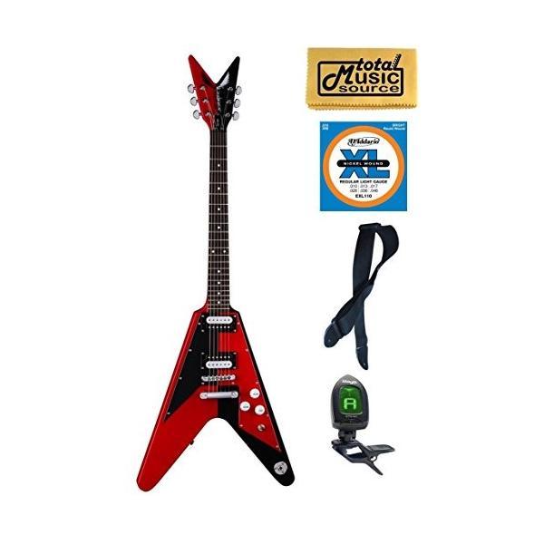 ディーンDean Michael Schenker Retro Electric Guitar Red & Black, Bundle abareusagi-usa