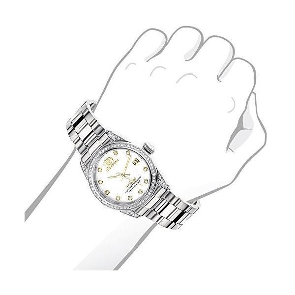 当店1年保証 ラックスマンWomen's Diamond Watch Stainless Steel Tribeca 1.5ctw of diamonds by Luxurman
