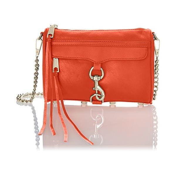 レベッカミンコフRebecca Minkoff Mini MAC Convertible Cross-Body Bag,Hot Orange,One Size