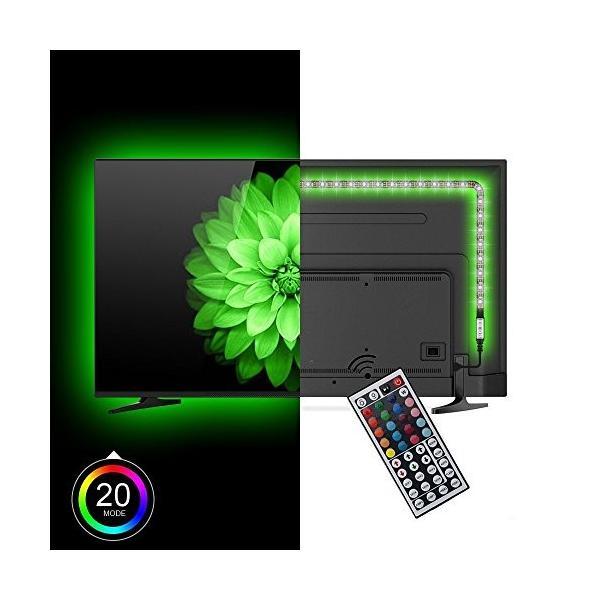 プロジェクターランプLononvie 200CM 6.56ft 5V USB Powered Multi Color RGB TV LED Strip, TV Monitor Backlight Bias Lightin