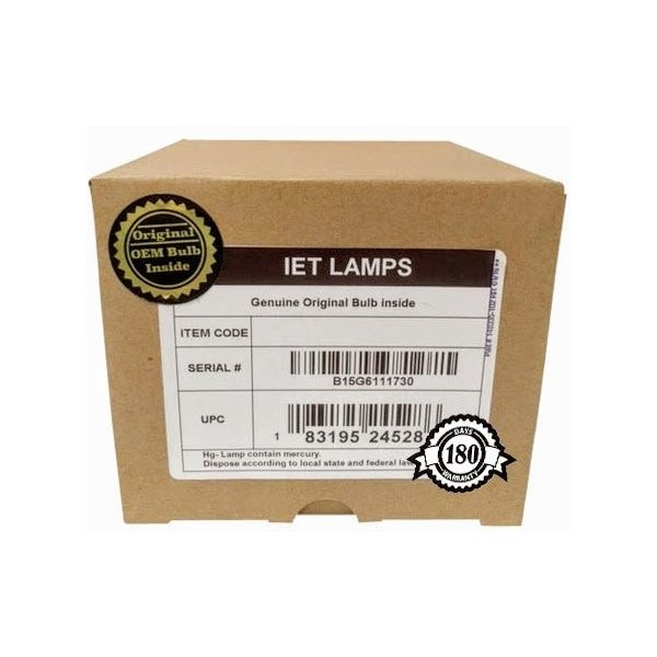 プロジェクターランプIET Lamps - Genuine Original Replacement bulb/lamp with OEM Housing for MITSUBISHI WD-57833 TV (Phil
