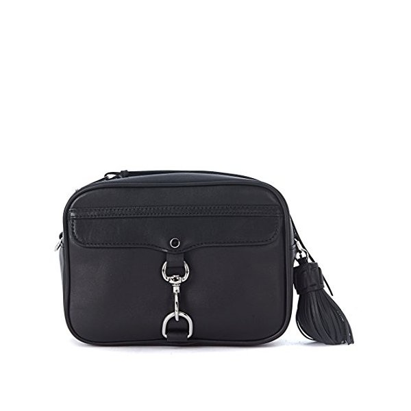 レベッカミンコフRebecca Minkoff MAB Ladies Large Leather Black Camera Bag HF17EGRX59