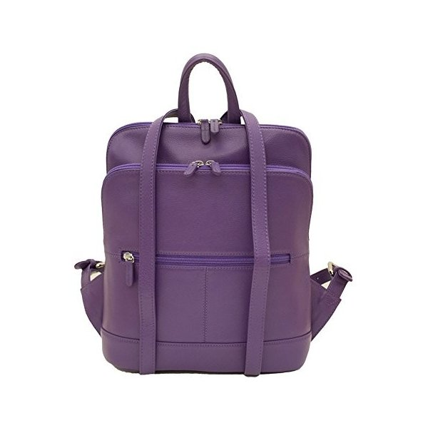 ILIili New York 6505 Leather Backpack (Purple)