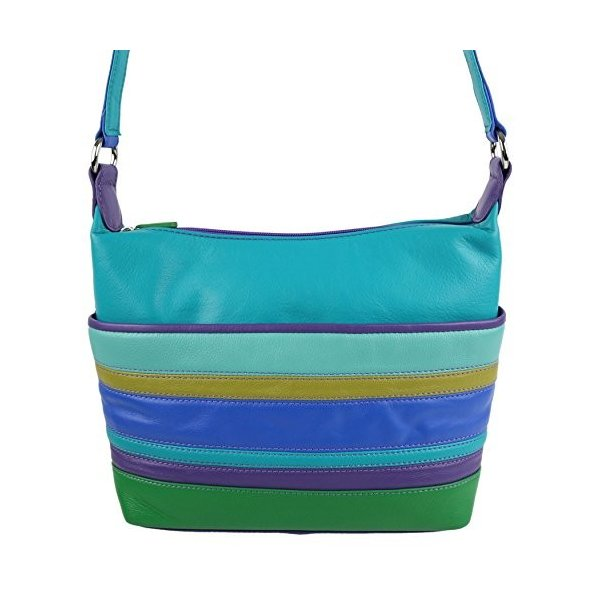 ILIIli World Women'S Leather Cross Body Shoulder Bag Onesize Cool Tropics