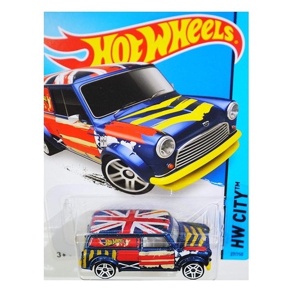 ホットウィールHot Wheels 2015 HW City '67 Austin Mini Van 27/250, Blue|abareusagi-usa