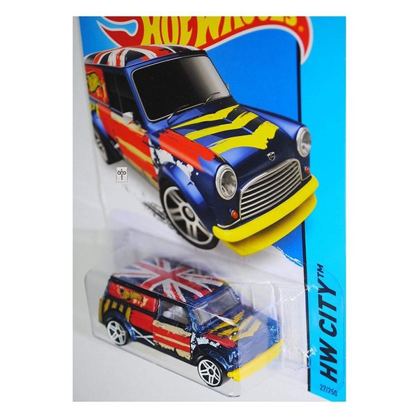 ホットウィールHot Wheels 2015 HW City '67 Austin Mini Van 27/250, Blue|abareusagi-usa|02