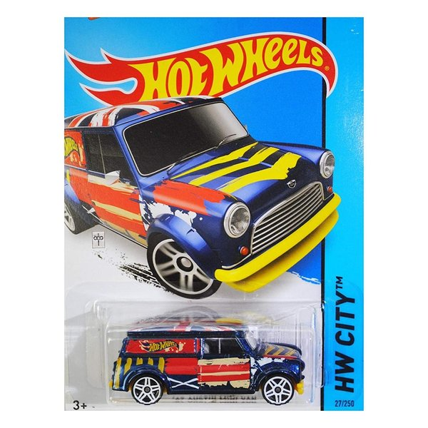 ホットウィールHot Wheels 2015 HW City '67 Austin Mini Van 27/250, Blue|abareusagi-usa|03
