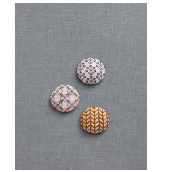 刺繍キット ルシアン 地刺し 3つの包みボタン nordic ノルディック  no-2302
