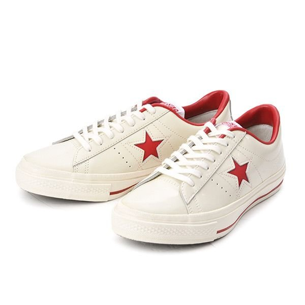 【converse】 コンバース ONE STAR(A) OX ワンスター オックス ABC-MART限定 WHITE/RED|abc-martnet