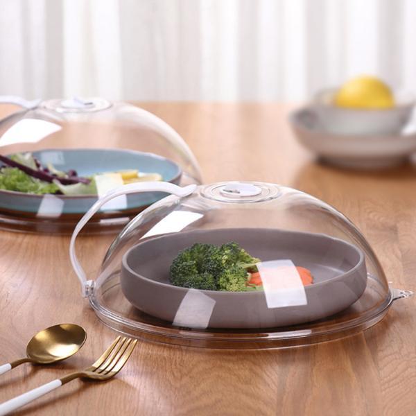 フードふた電子レンジ可食器蓋保温蓋カバー食品用ハンドル付き耐熱蓋スパッタリングカバーラップ不要プラスチック製キッチン雑貨便利グッ