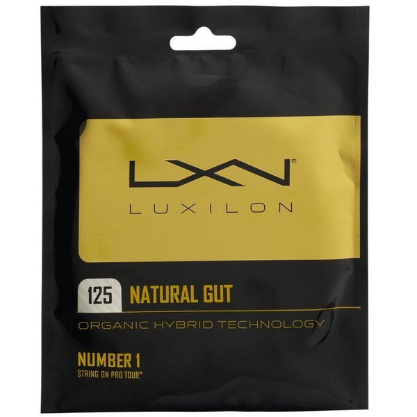 [ガット]ルキシロン(LUXILON) ナチュラルガット 1.25/1.30mm/16G (NATURAL 16) テニスガット パッケージ品