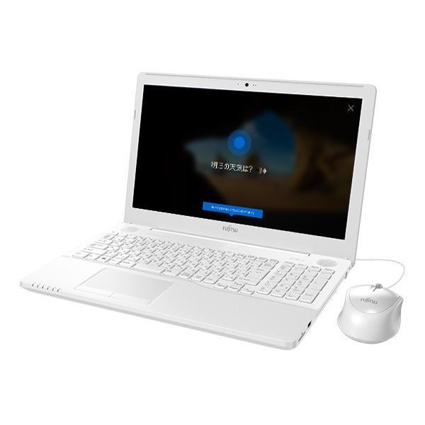 FUJITSU FMVA42C2W ノートパソコン LIFEBOOK(ライフブック) プレミアムホワイト [15.6型 /intel Celeron /HDD:1TB /メモリ:4GB /2018年6月モデル]の画像