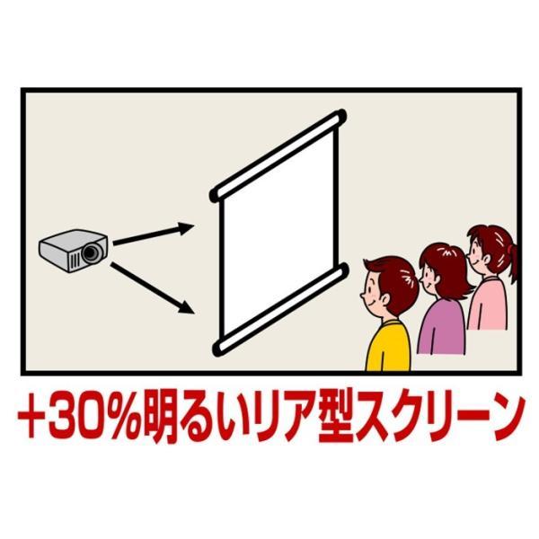 リア投影プロジェクタースクリーン スプリング巻き上げ式80インチ(16:9) SR-RS80W 日本製