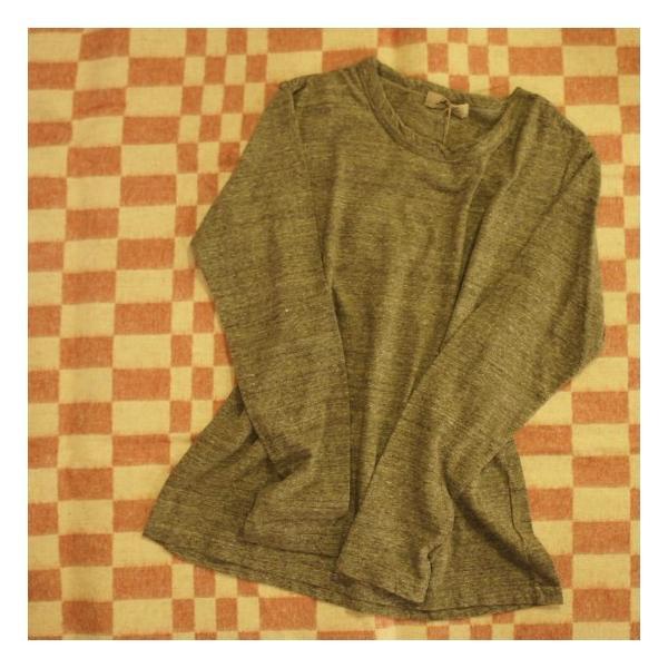 ICHI Antiquite's ベーシック長袖Tシャツ 杢グレー