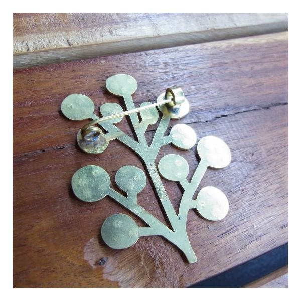SAJAVAT Japan 木のブローチ BRASS|abracadabra|04