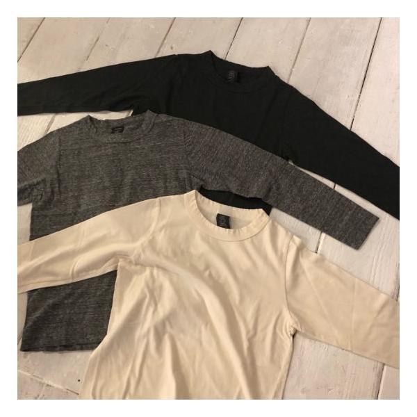 homspun (ホームスパン) 天竺長袖Tシャツ 全3色