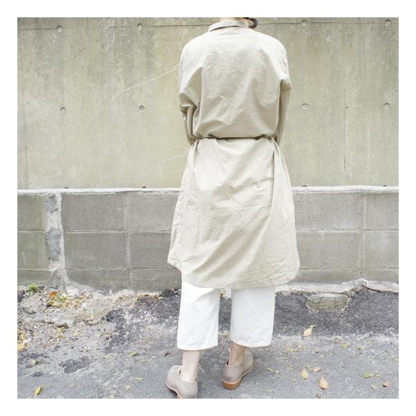 ICHI Antiquite's(イチ アンティークス) 羊飼いシャツワンピース ベージュ|abracadabra|03