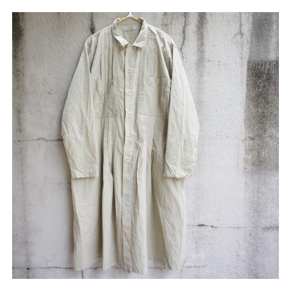 ICHI Antiquite's(イチ アンティークス) 羊飼いシャツワンピース ベージュ|abracadabra|06