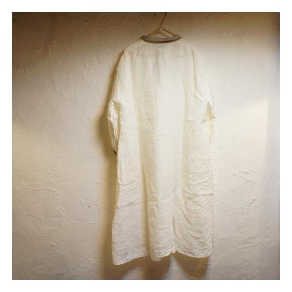 ICHI Antiquite's(イチ アンティークス) シャンブルワンピース オフホワイト|abracadabra|08