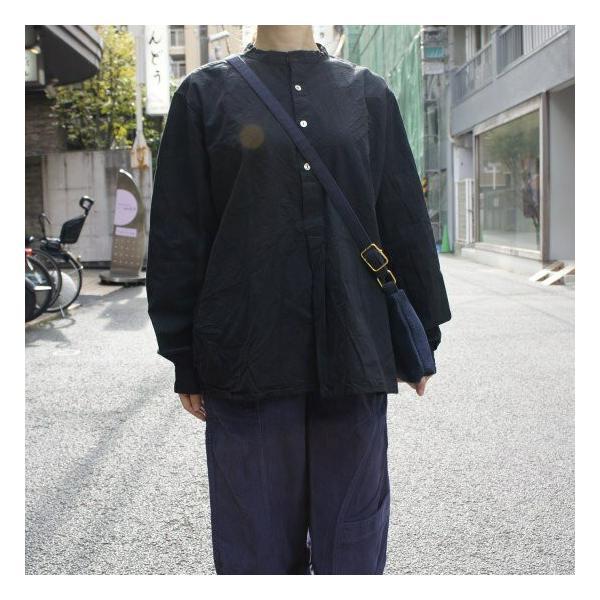 ブルガリア 50'sグランパシャツ ブラック