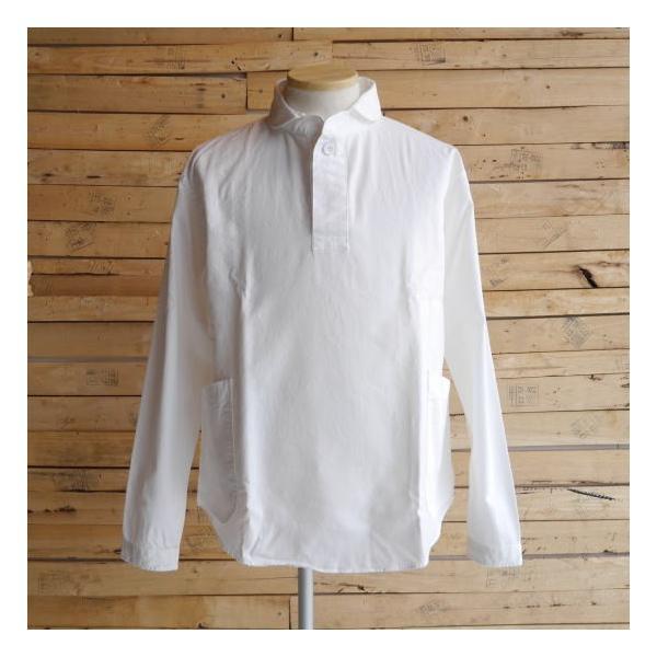 LOLO ロロ 定番プルオーバーシャツ オフホワイト LS-3|abracadabra|02