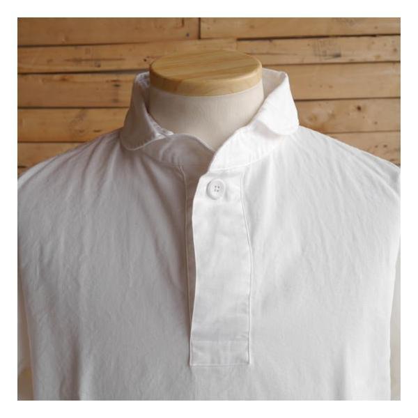 LOLO ロロ 定番プルオーバーシャツ オフホワイト LS-3|abracadabra|05