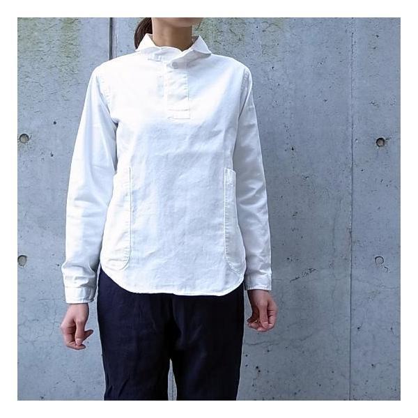 LOLO ロロ 定番プルオーバーシャツ オフホワイト LS-3|abracadabra|06