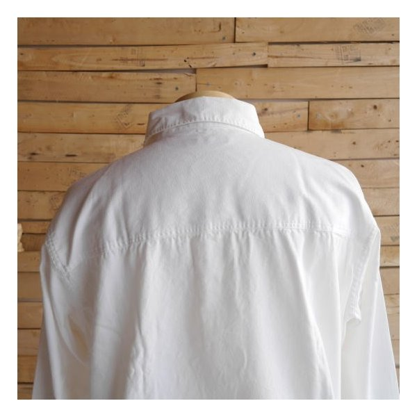 LOLO ロロ 定番プルオーバーシャツ オフホワイト LS-3|abracadabra|08