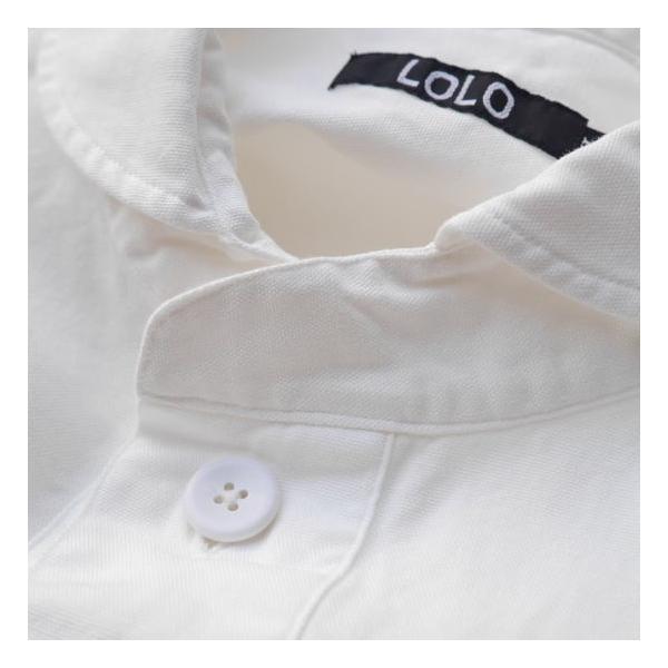 LOLO ロロ 定番プルオーバーシャツ オフホワイト LS-3|abracadabra|09