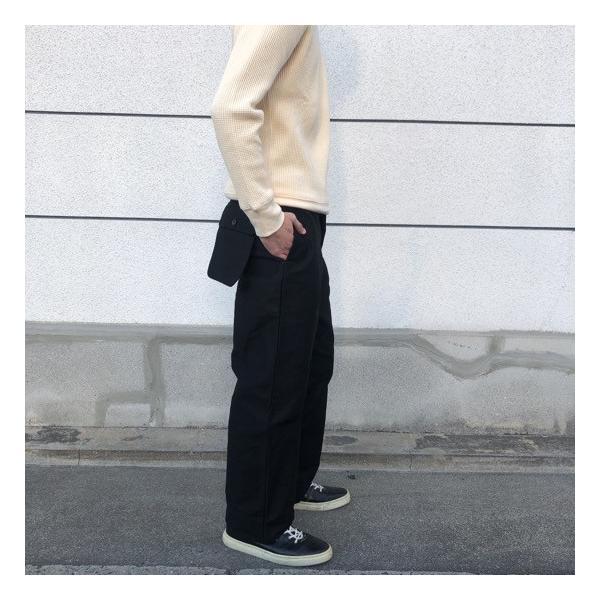 LOLO(ロロ)  モールスキンスイングポケットパンツ ブラック abracadabra 02