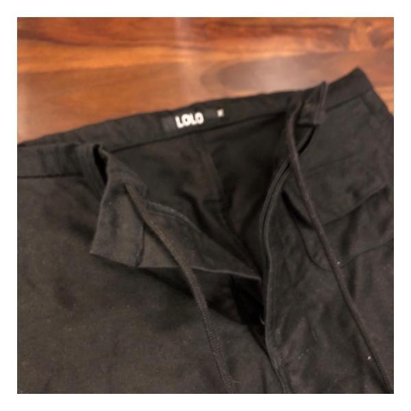 LOLO(ロロ)  モールスキンスイングポケットパンツ ブラック abracadabra 09