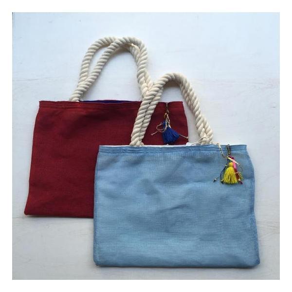 カラフルジュートビーチバッグ 全2色 abracadabra 03