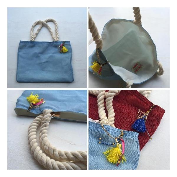 カラフルジュートビーチバッグ 全2色 abracadabra 04
