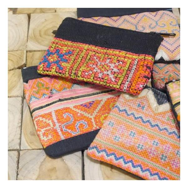モン族古布ポーチ 全6種類