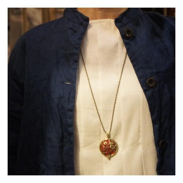TOPANGA Accessories ディフューザーネックレス TREE OWL/A.GOLD|abracadabra|02