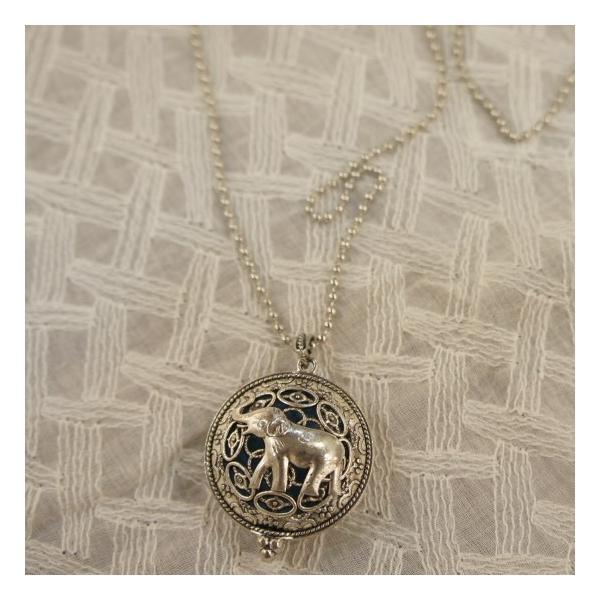 TOPANGA Accessories ディフューザーネックレス Elephant/SILVER|abracadabra|04