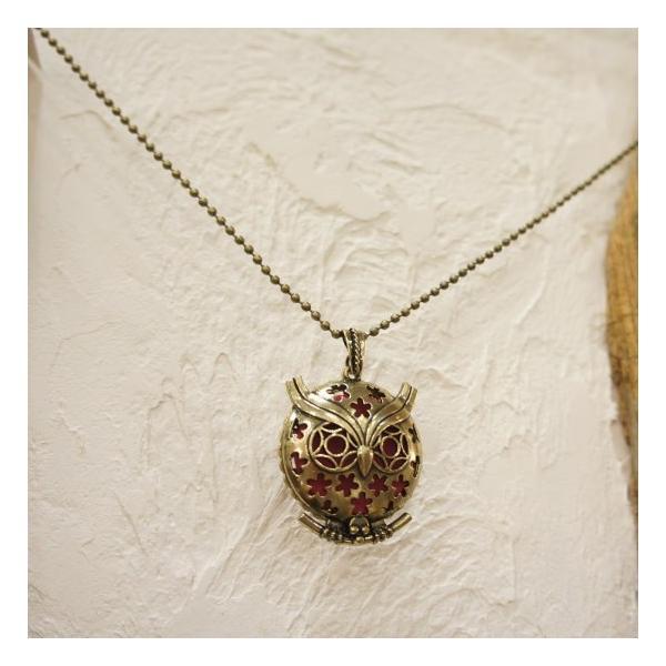 TOPANGA Accessories ディフューザーネックレス OWL/BRONZE|abracadabra