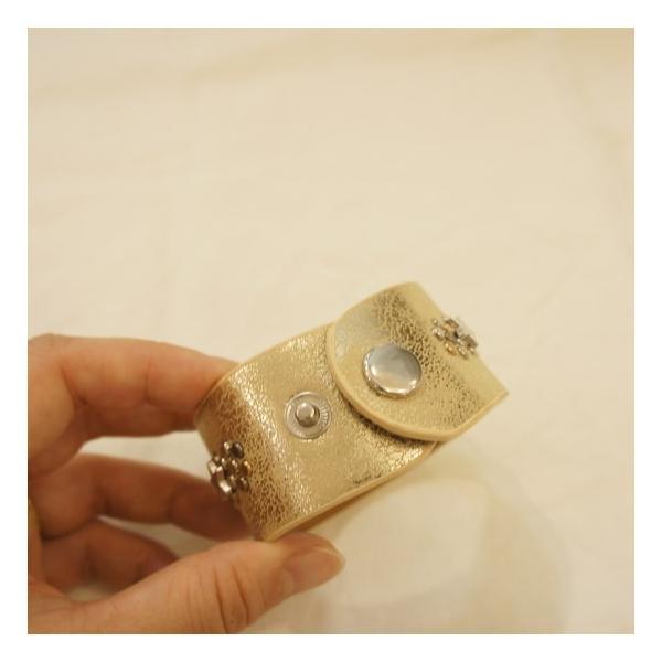 TOPANGA Accessories スタースタッズ&レザーブレスレット シルバー/ゴールド|abracadabra|05