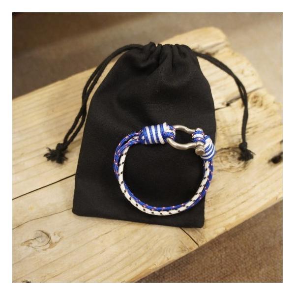 TOPANGA Accessories パラコード&シャックルブレスレット ブルーミックス|abracadabra|06