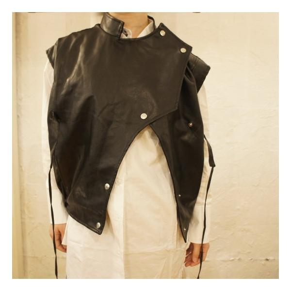 Topanga Fashion マンダリンカラーライダースベスト|abracadabra|02