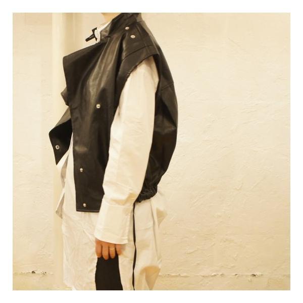 Topanga Fashion マンダリンカラーライダースベスト|abracadabra|03