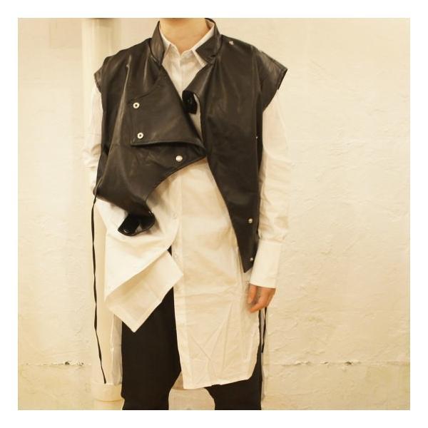 Topanga Fashion マンダリンカラーライダースベスト|abracadabra|08