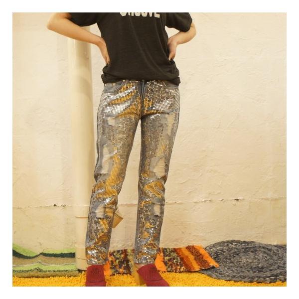Topanga Fashion スパンコールダメージデニム|abracadabra|05