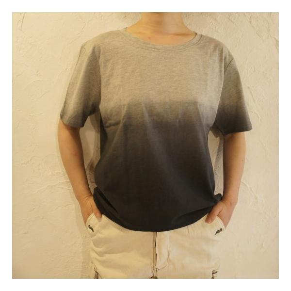 TOPANGA fashion グラデーションTシャツ グレー abracadabra