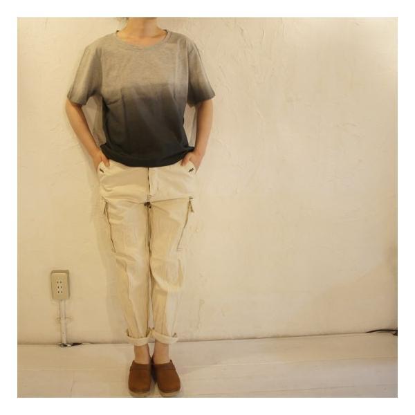 TOPANGA fashion グラデーションTシャツ グレー abracadabra 05