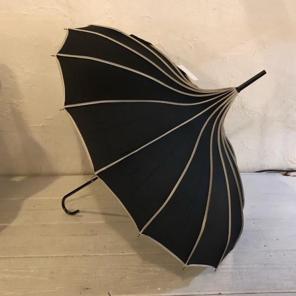 TOPANGA FASHION サーカステントパゴダ雨傘 ブラック